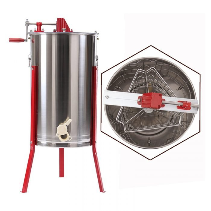 HE 3M 3 Frame Stainless Manual Honey Extractor 1