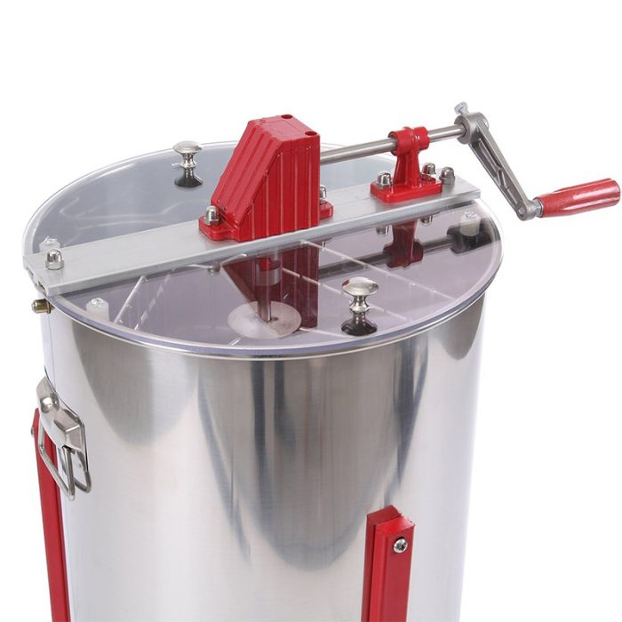 HE 3M 3 Frame Stainless Manual Honey Extractor 4