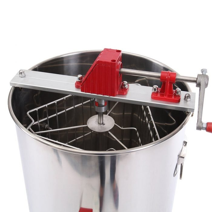 HE 3M 3 Frame Stainless Manual Honey Extractor 5