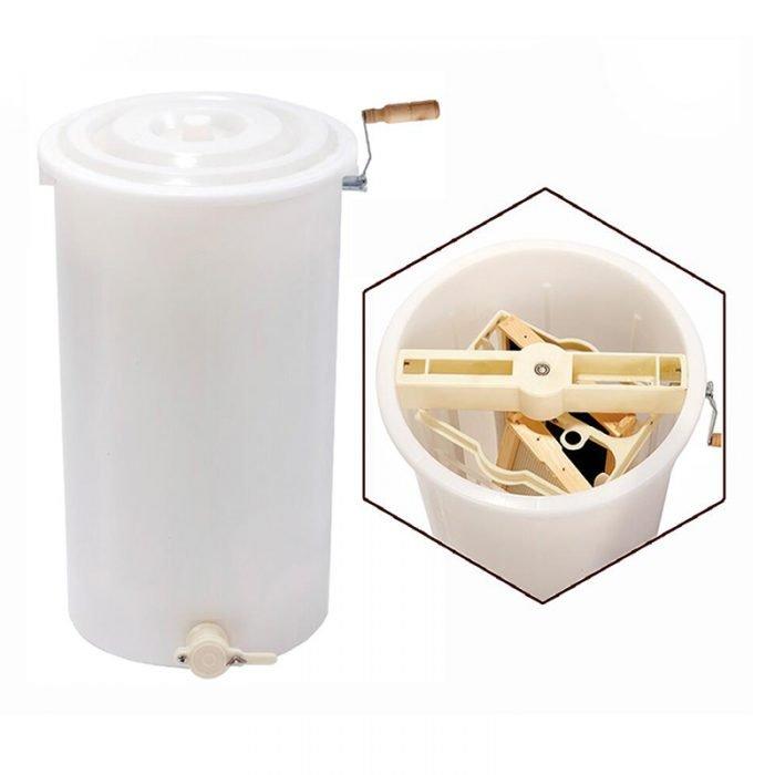 HE P2 2 frame plastic honey extractor 1