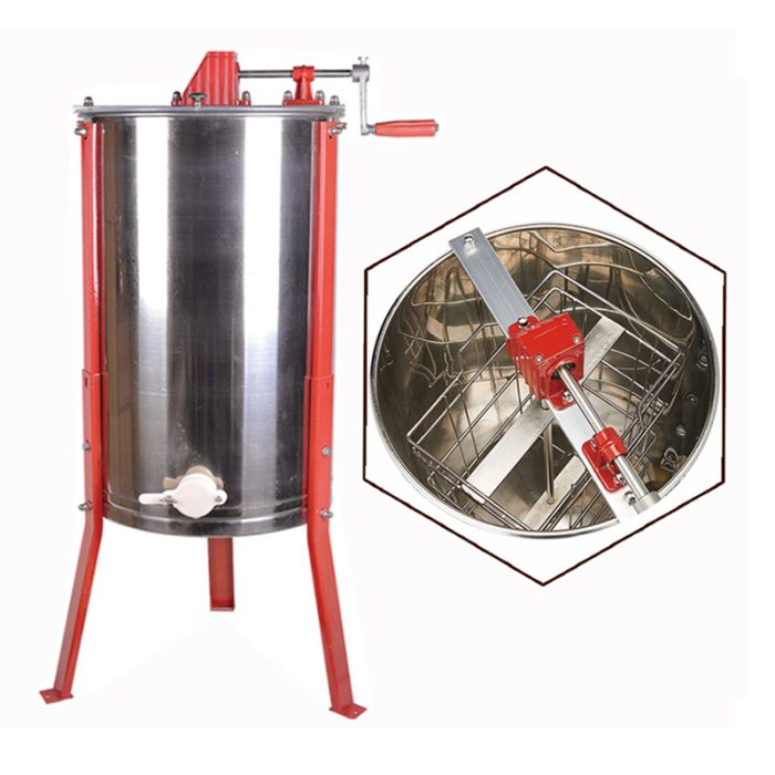 2-Frame-Stainless-Steel-Manual-Honey-Extractor-1