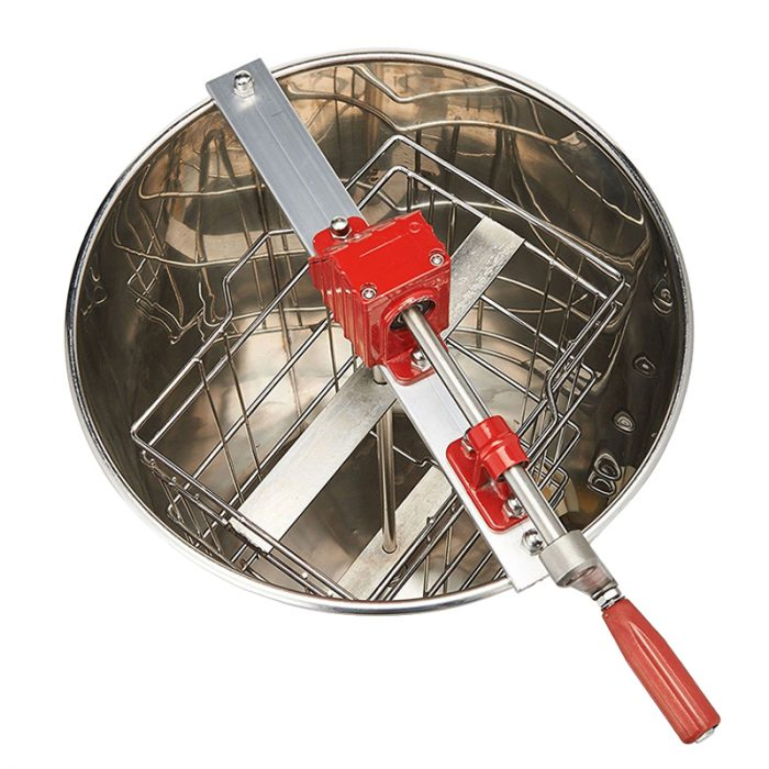 2-Frame-Stainless-Steel-Manual-Honey-Extractor-5