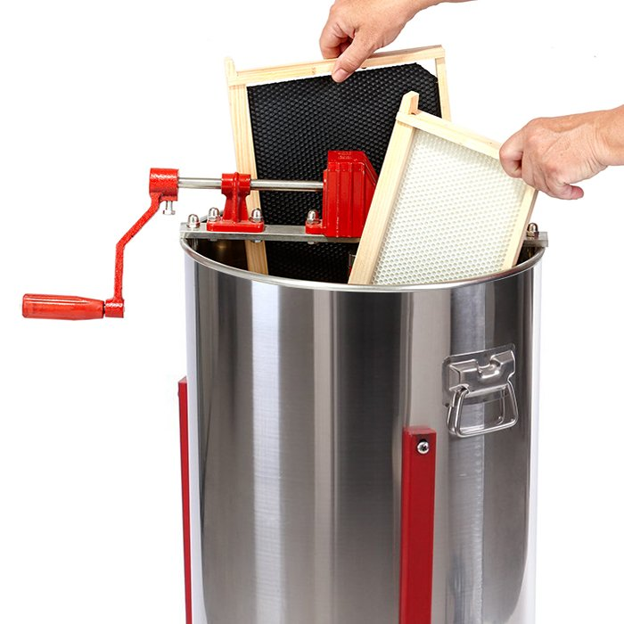 2-Frame-Stainless-Steel-Manual-Honey-Extractor-7