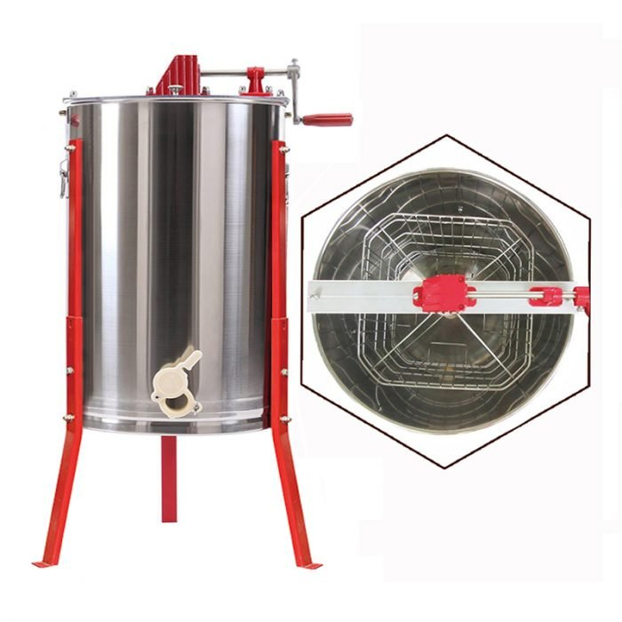 4-Frame-Stainless-Steel-Manual-Honey-Extractor-1