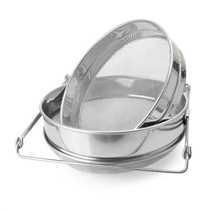 Double layer Stainless Steel Honey Strainer 1
