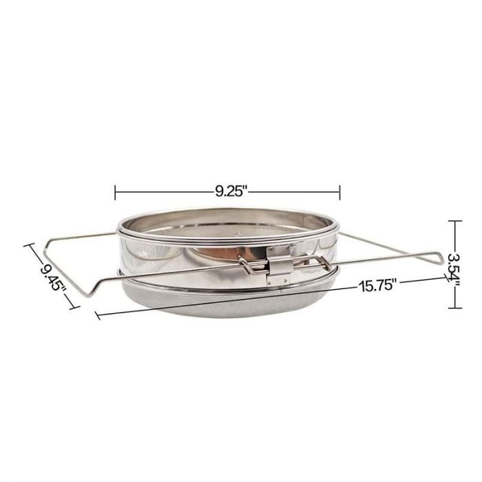 Double layer Stainless Steel Honey Strainer 5