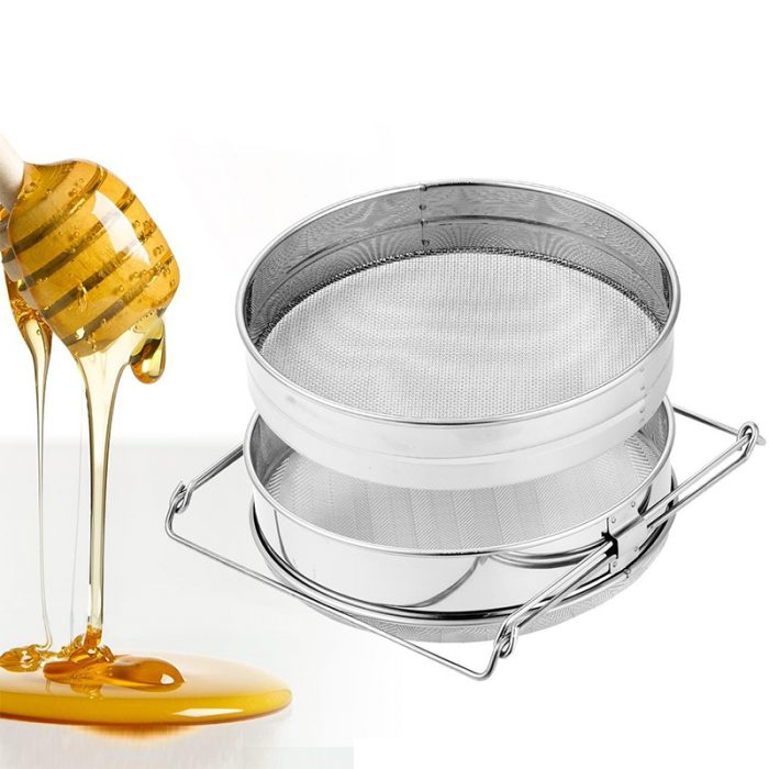 Double layer Stainless Steel Honey Strainer 7