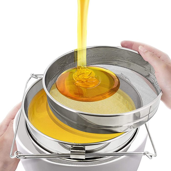 Double layer Stainless Steel Honey Strainer 8
